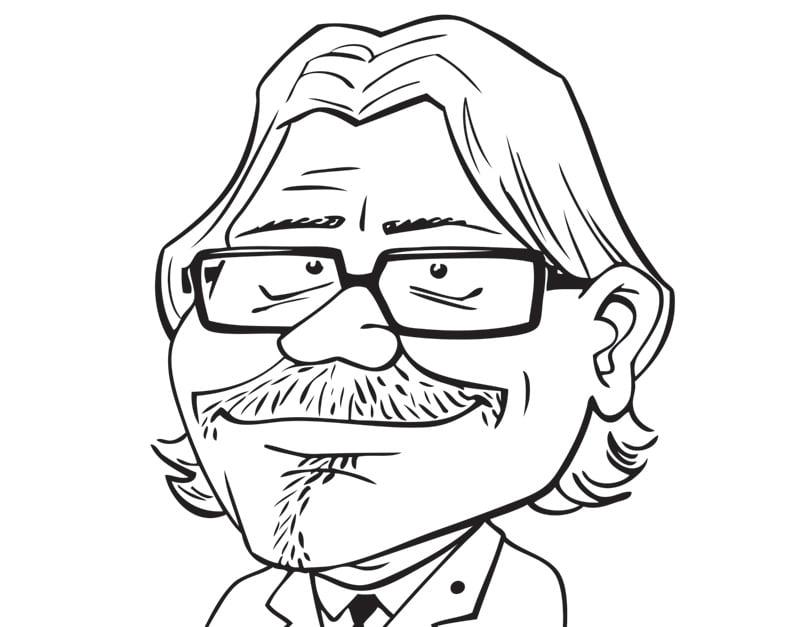 Kirsons caricature, Gatis Sluka