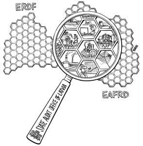 State audit office of Latvia, ERDF, EAFRD, sketch