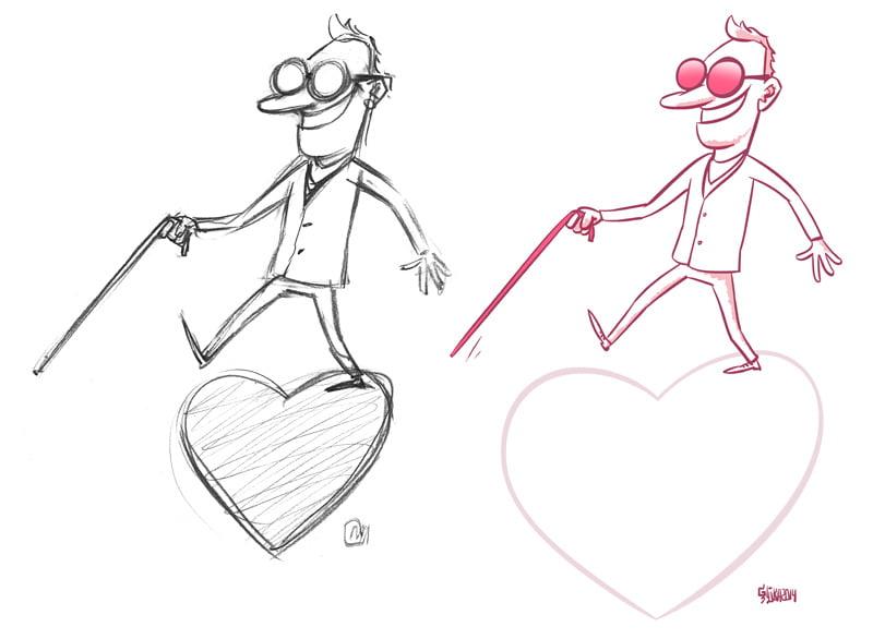 love cartoon sketches