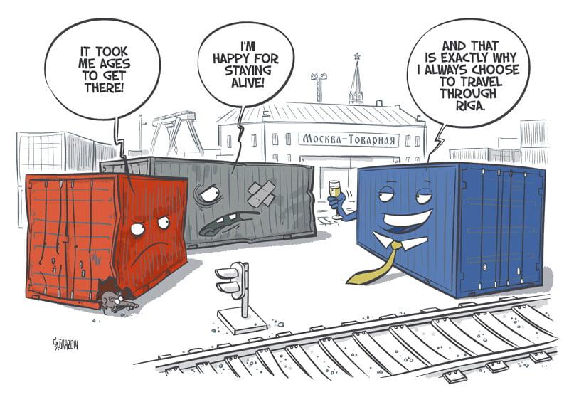 Freeport of Riga authority cartoon